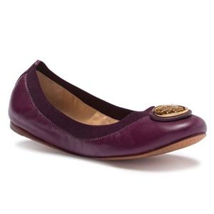 Purple Tory Burch Caroline Ballet Flat